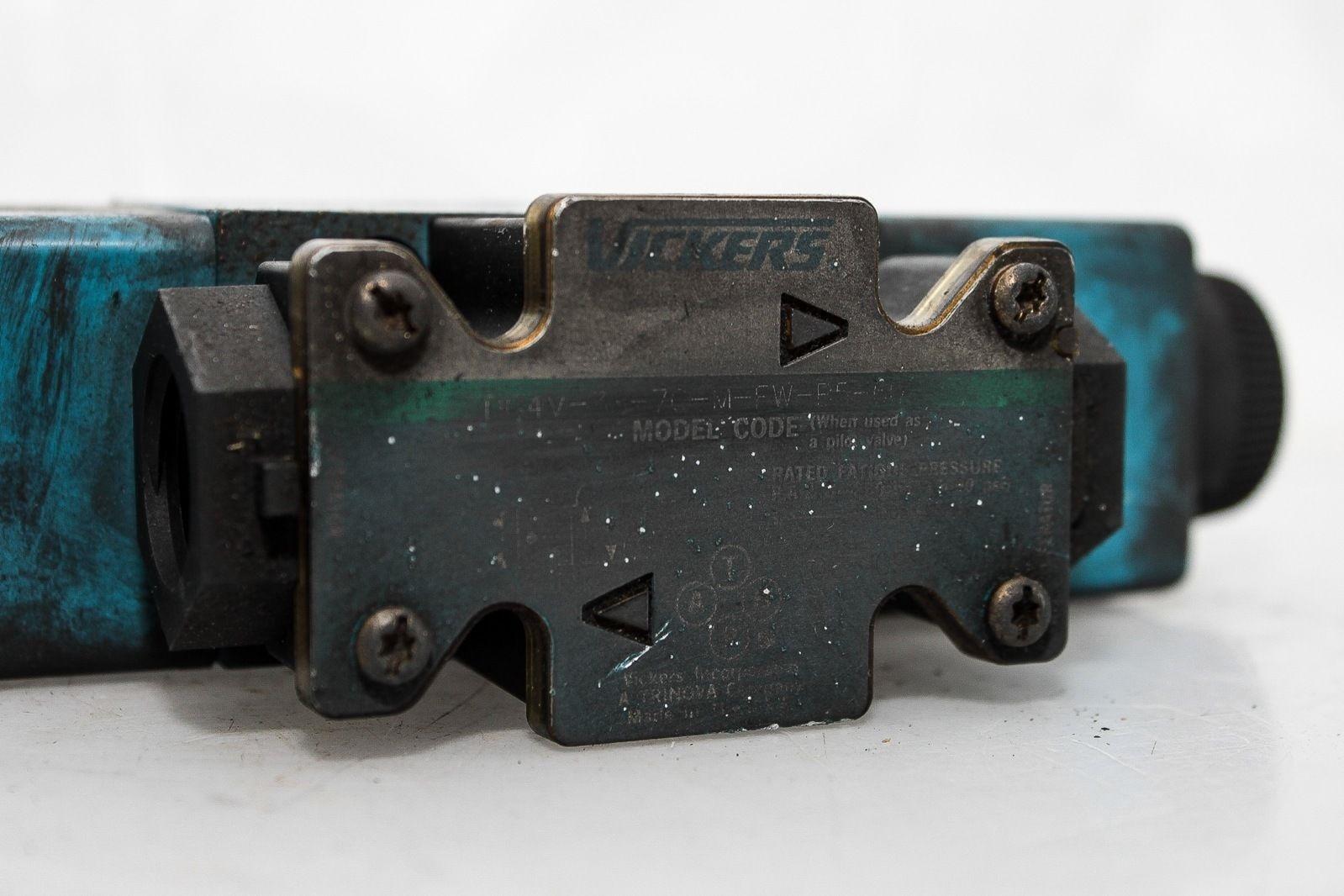 VICKERS DG4V-3S-7C-M-FW-B5-60 REVERSABLE HYDRAULIC CONTROL SOLENOID VALVE! (F9) 2