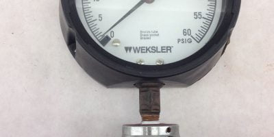 NEW! WEKSLER G23-15A PRESSURE GAUGE WITH ASHCROFT C1215 SS REGULATOR (B215) 1