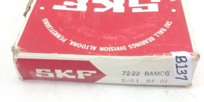 SKF 7222 BAMCG ANGULAR CONTACT BALL BEARING (B137) 1