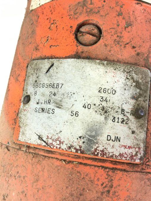 USEDÂ 5BCG56EB7 General Electric Drive Motor, SERIES 56, FAST SHIPPING! B309 2