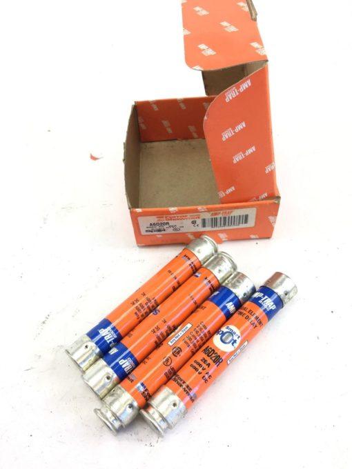 New Box of 4Â Shawmut A6D20R 20 Amp Fuses, AMP-TRAP, SMART SPOT, FAST SHIP! B309 1