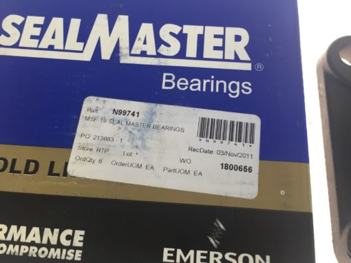 NEW IN BOX Seal Master MSF-19 1 3/16� N99741 Ball Bearing Flange Unit, (H95) 2