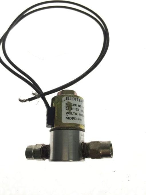 ELLIOT BAY CY316/CY317 WATTS 6-7 ORFICE 1/32 MOPD 400 VALVE, USED, WARRANTY H95 2
