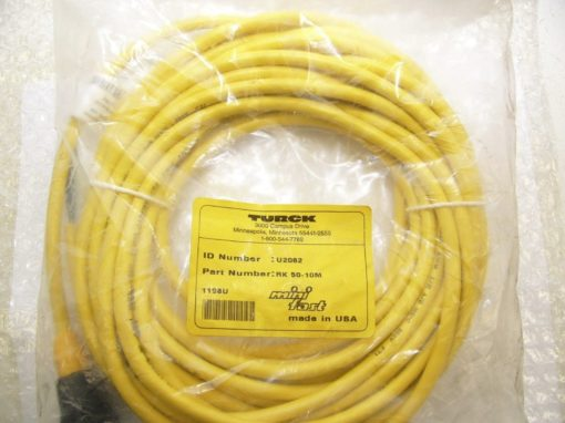 TURCK RK50-10M Cordset MINIFAST U2062 7/6-16UN Female Straight,5 Wire NEW (B177) 1