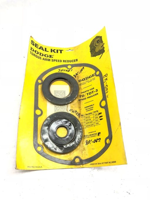 NEW DODGE RELIANCE 243340 SEAL KIT, PARTS FOR TD/TDT-3 SPEED REDUCER, (B425) 1