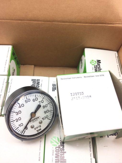 NEW IN BOX OF 11 FISHER CONTROLS MARSHALLTOWN J513-100 88378 0-100 PSIG, (B385) 2