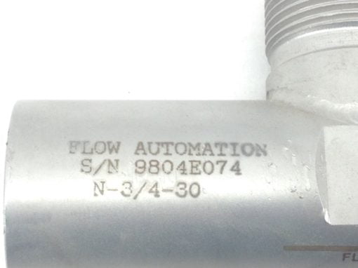 FLOW AUTOMATION N-3/4-30 TURBINE VALVE P/N 9804E074 (H343) 2