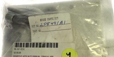 ABB 258491A1 AUTO/MANUAL MANIFOLD ASSEMBLY NEW IN FACTORY SEALED BAG, (H103) 1