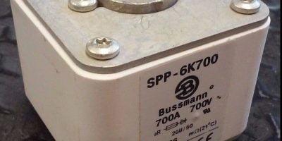 New Copper Bussmann SPP-6K700 700 Amp 700 Volt BUSS SEMITRON Fuse (H104) 1