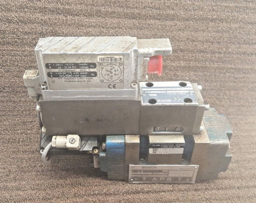 *USED* BOSCH 0811404605 SOLENOID CONTROL VALVE WITH PNEUMATIC CONTROL BAS (B176) 1