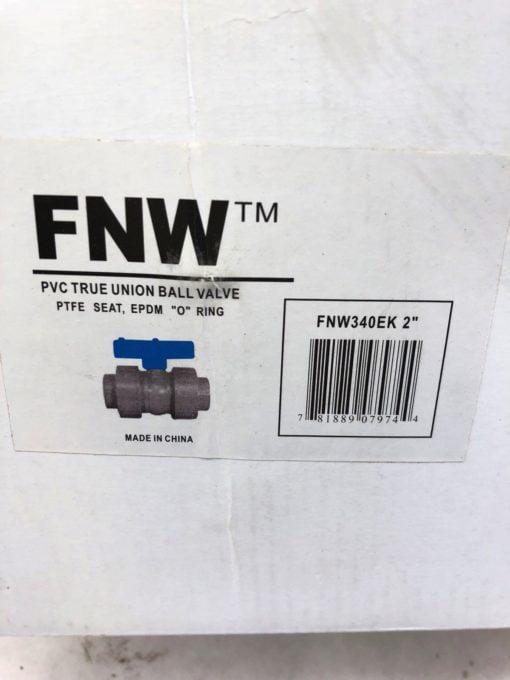 NEW IN BOX FNW FNW340EK TRUE UNION PTFE SEAT EPDM PVC 2″ NPT BALL VALVE (B426) 2