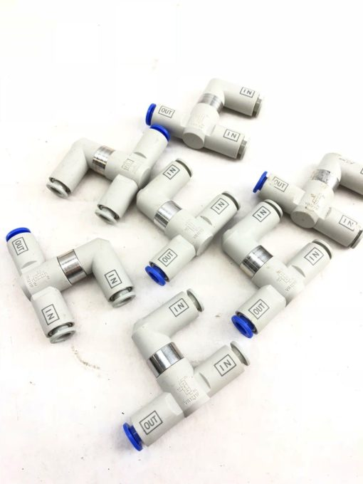 LOT OF 7 NEW SMC VR1211F PNEUMATIC SHUTTLE CHECK VALVE 3 PORTS, FAST SHIP! (A844 1