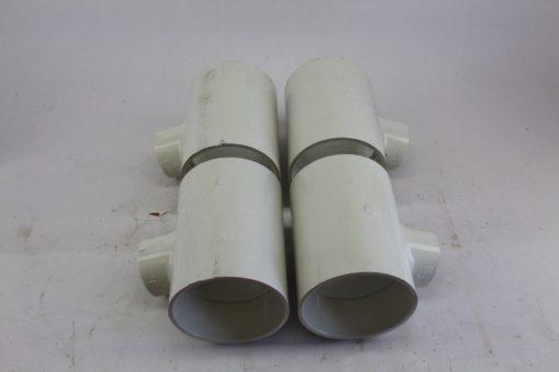 SPEARS 4x4x2 PVC SLIP TEEÂ FITTINGÂ SCHÂ 40 LOT OF 13 (B238) 1