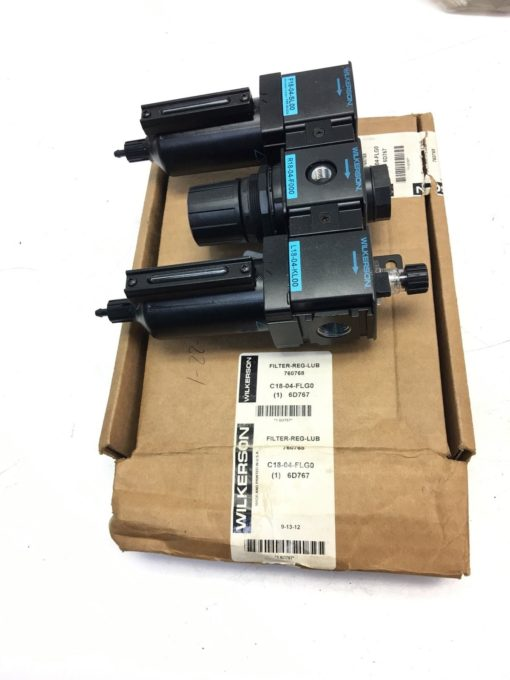 NEW IN BOX WILKERSON C18-04-FLG0 Filter Regulator Lubricator, 1/2 In