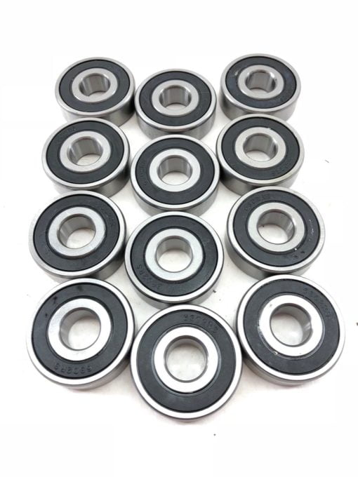 LOT OF 12 NEW 6302RS DEEP GROOVE RUBBER SEALED SHIELDED BALL BEARING (A875) 1