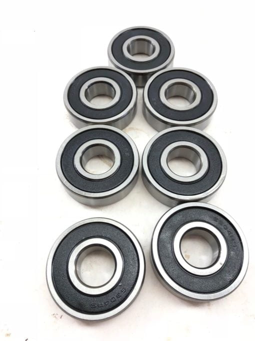 LOT OF 7 NEW 6304RS DEEP GROOVE RUBBER SEALED SHIELDED BALL BEARING (A875) 1