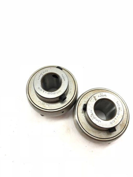 LOT OF 2 NSK UC202-10S UC204 UC202-105 METAL SHIELDED BALL BEARING INSERT (A875) 1