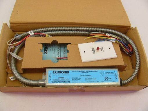 EXITRONIX XEB-42-CF EMERGENCY LIGHTING **missing electrical box** (B194) 1