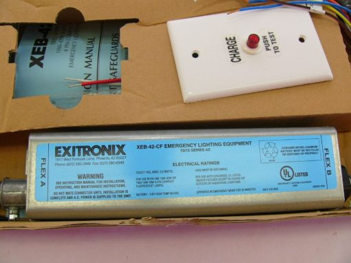 EXITRONIX XEB-42-CF EMERGENCY LIGHTING **missing electrical box** (B194) 2