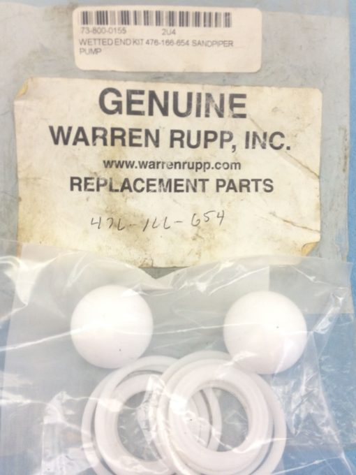 NEW! GENUINE WARREN RUPP REPLACEMENT PARTS for WETTED END KIT 476-166-654 (H163) 1