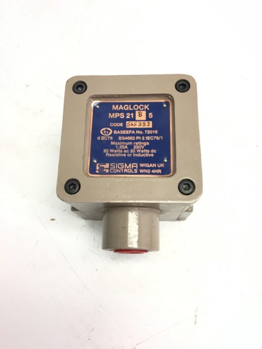 NEW SIGMA CONTROLS MAGLOCK MPS 21 B 5 PROXIMITY SWITCH, FAST SHIPPING, H130 1