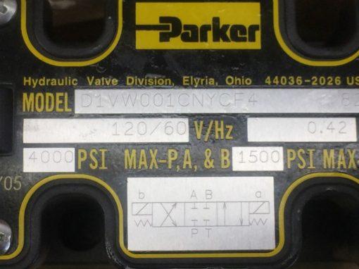 NIB! PARKER HYDRAULICS D1VW001CNYCF4 DBL SOLENOID VALVE (H275) 4