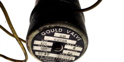 GOULD AIR WATER VALVE TYPE GX-3T, SIZE 1/4, 120VAC 60 CYCLES, MAX PSI 5, H117 1
