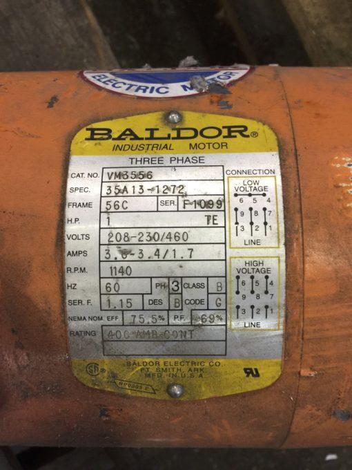 BALDOR VM3556 1HP 1155RPM 56C FRAME 3PH MOTOR (NP15) 2