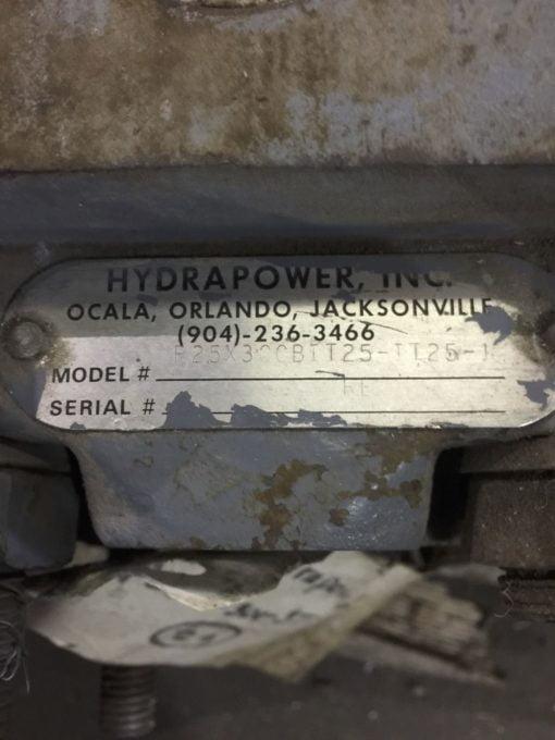 HHYDRAPOWER P25X3CCBIT25-TT25-1 GEAR PUMP MOTOR (NP15) 2
