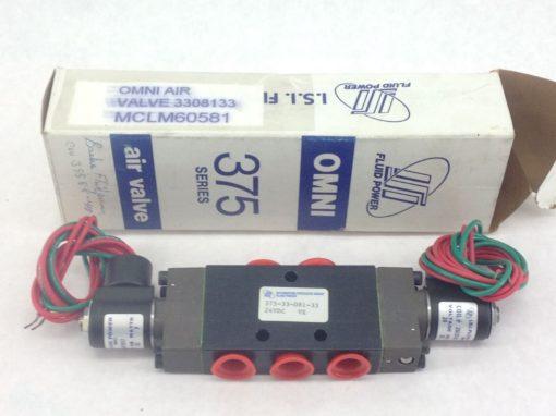 NIB!!! FLUID POWER 375-33-081-33 / 26E01017 OMNI AIR SOLENOID VALVE & COIL (B52) 1