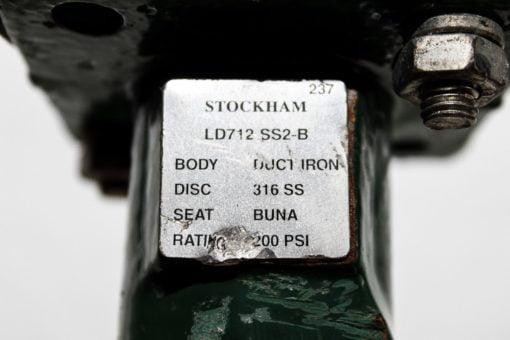 STOCKHAM LD 712 SS2-B 5″ 200PSI DUCTILE IRON BODY SS DISC BUTTERFLY VALVE (B128) 2
