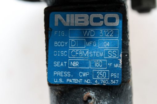 NIBCO WD 3122 250PSI STAINLESS STEEL BUTTERFLY VALVE WITH LOCKING LEVER! (B128) 2