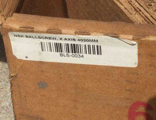 NEW! FadalCNC NSK LINEAR BLS-0034 CMPLT NSK BALLSCREW ASSY X AXIS 4020MM (P20) 3