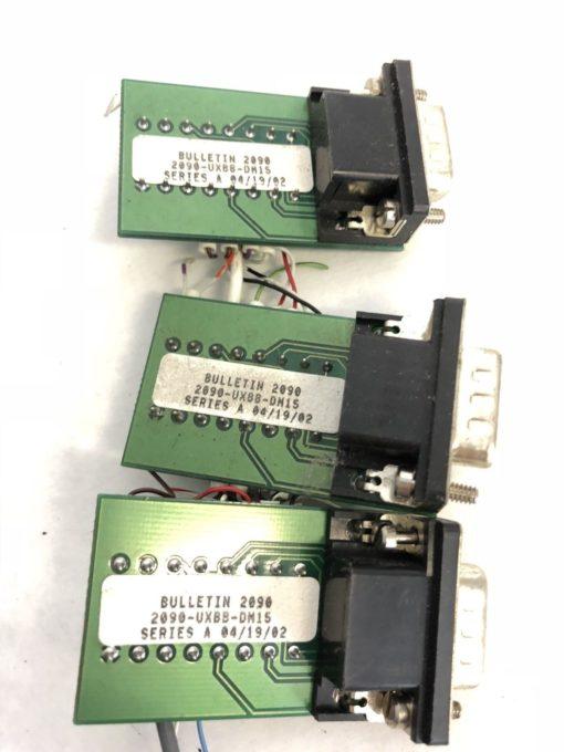 LOT OF 3 USED Allen Bradley 2090-UXBB-DM15 Breakout Board P27126 FAST SHIP! H331 2