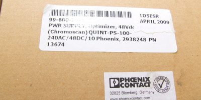 FAST SHIP! PHOENIX QUINT-PS-100-240AC/48DC/10 POWER SUPPLY OPTIMIZER 1
