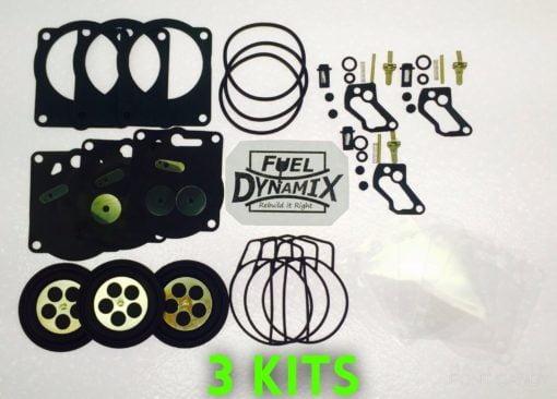 (3) Yamaha GP1200 XL1200 Carburetor Rebuild Kits Mikuni SBN-I Waverunner Carb XL 1