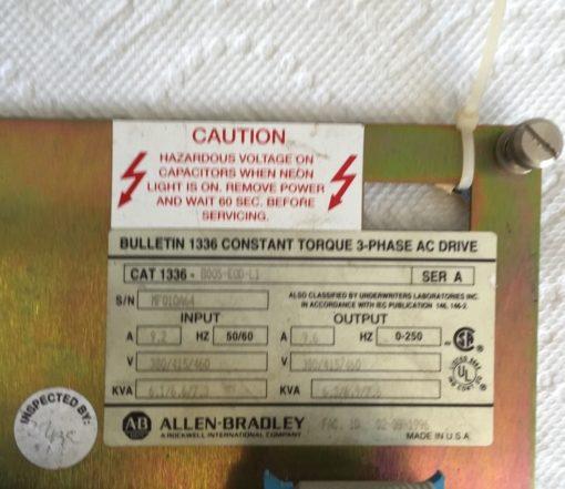 Allen Bradley Cat 1336-B005-EOD-L1 Constant Torque 3-Phase Drive BOARD (H94) 2