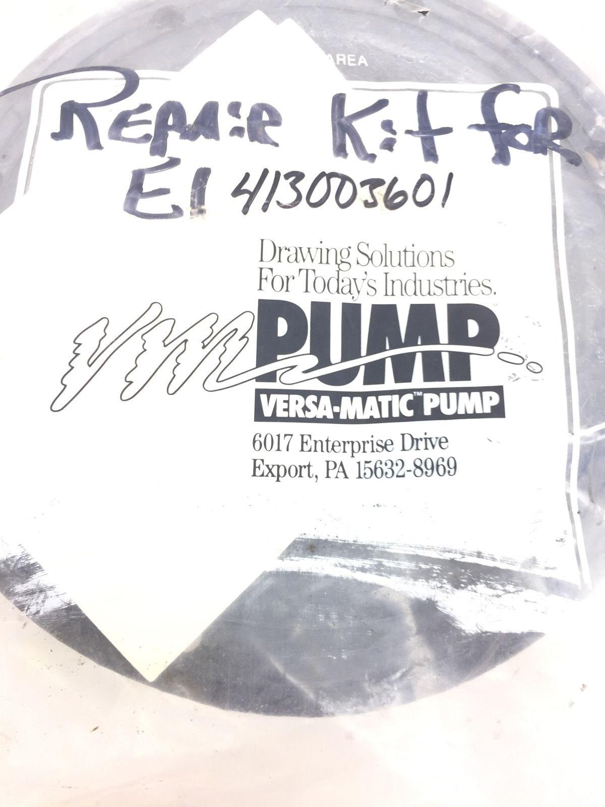 VERSA-MATIC 1� E-SERIES STAINLESS PUMP REPAIR KIT FOR E1413003601 NEW (H233) 1