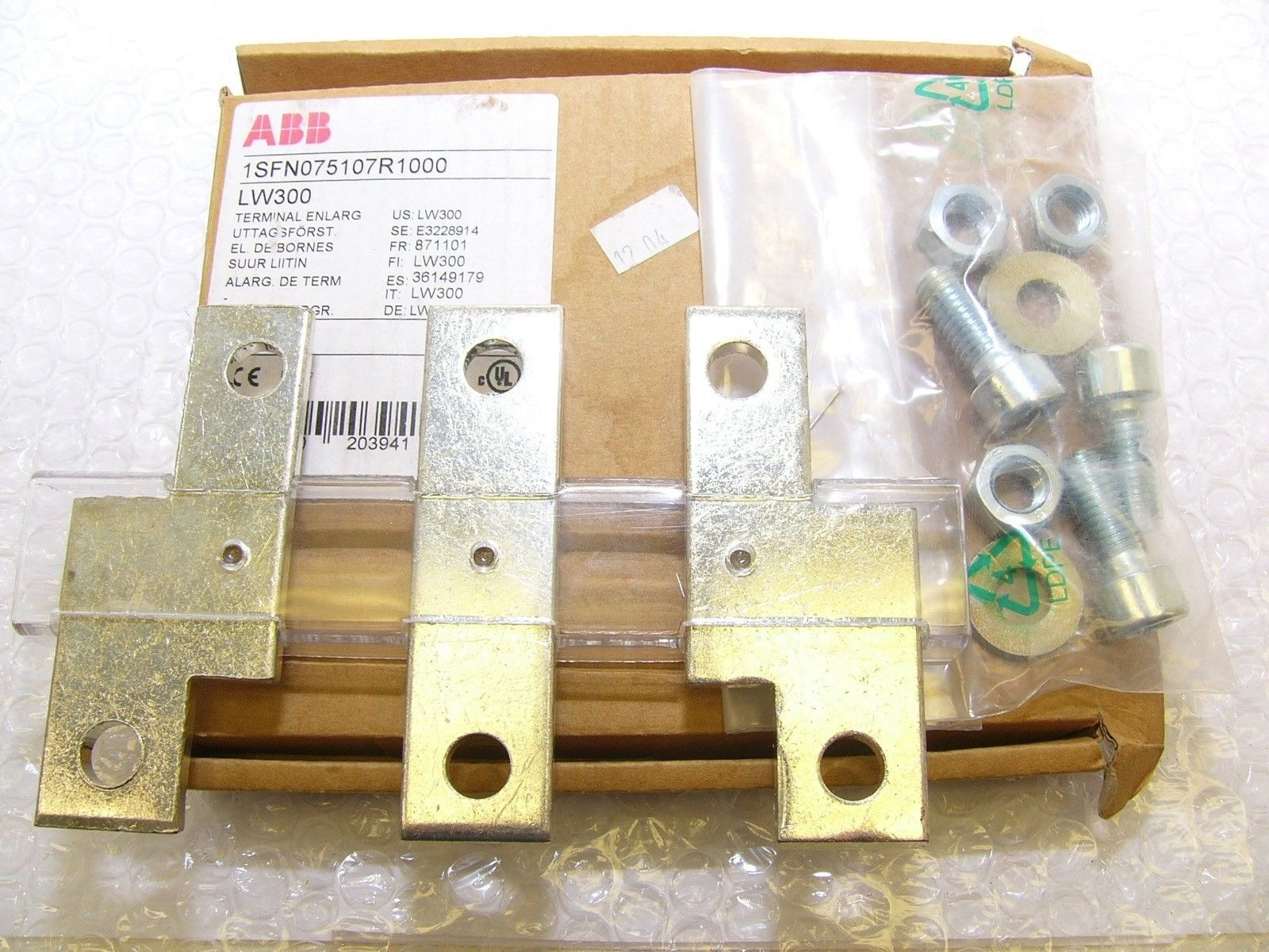 GENUINE ABB ZW300 SPRING & CONTACT KIT NEW! FAST SHIP! (B185) 1