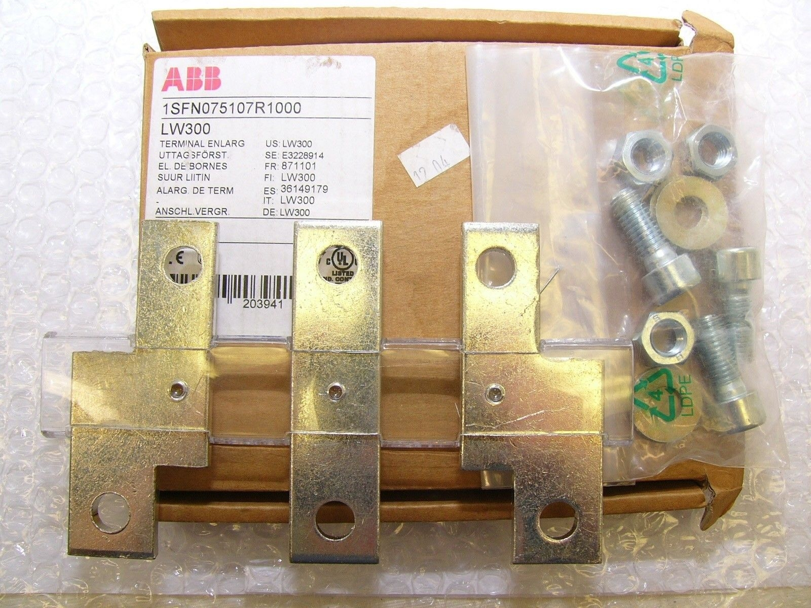 GENUINE ABB ZW300 SPRING & CONTACT KIT NEW! FAST SHIP! (B185) 2