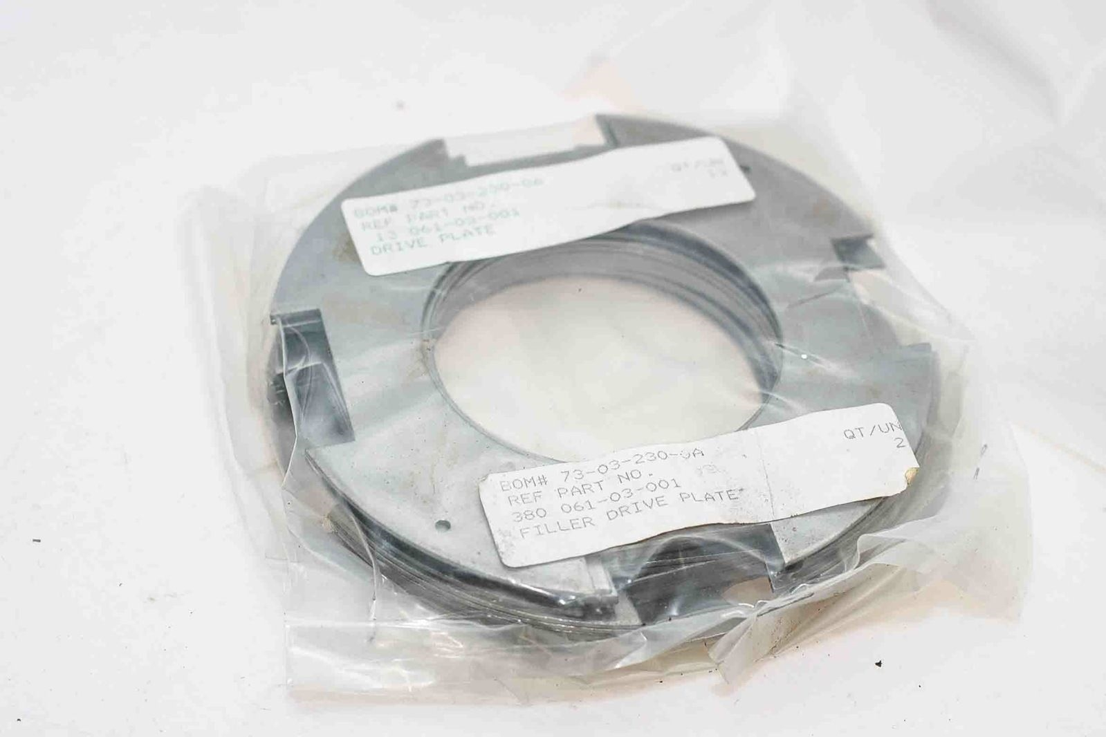 15 FILLER DRIVE PLATES 13 061-03-001 NEW IN FACTORY SEALED PACKAGE FASTSHIP H102 2