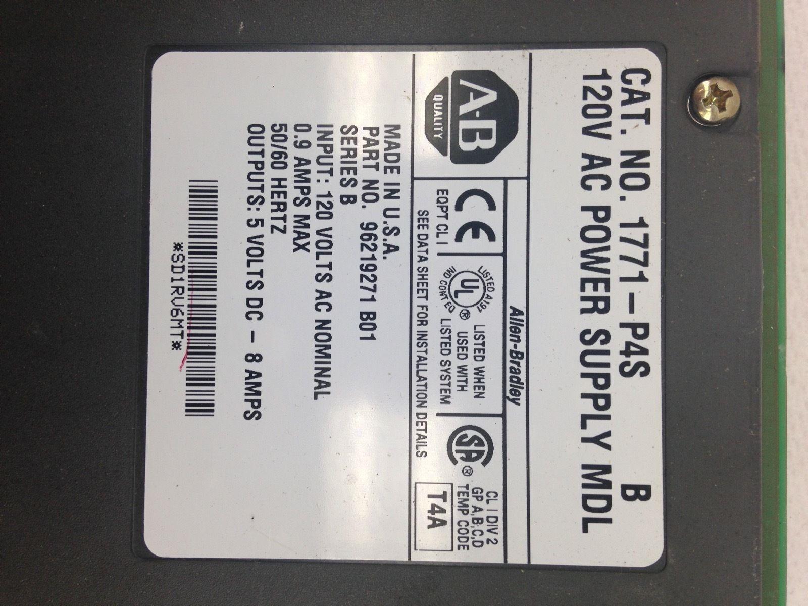 ALLEN BRADLEY 1771-P4S 120V AC POWER SUPPLY MODEL B NEW (B55) 2