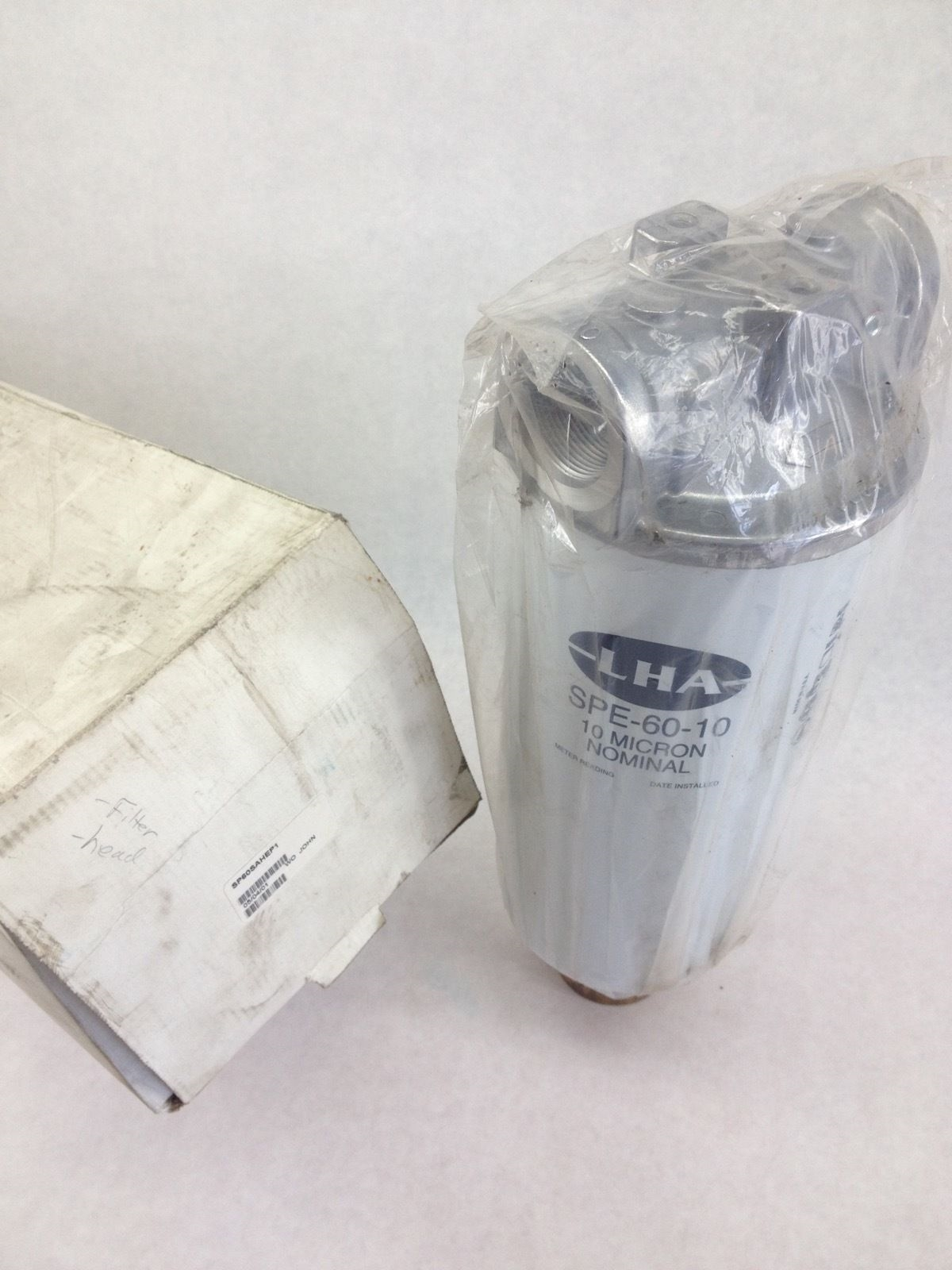 NEW! LHA SP60SAHEP1 IN-LINE FILTER ASSY 10 MICRON NOMINAL 1-1/4 FAST SHIP!(TOL) 1