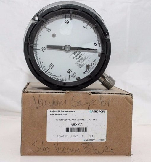 ASHCROFT 5RXZ7 30â?HG VAC – 0 VACUUM PROCESS GAUGE! NEW IN BOX! FAST SHIP! (B131) 1