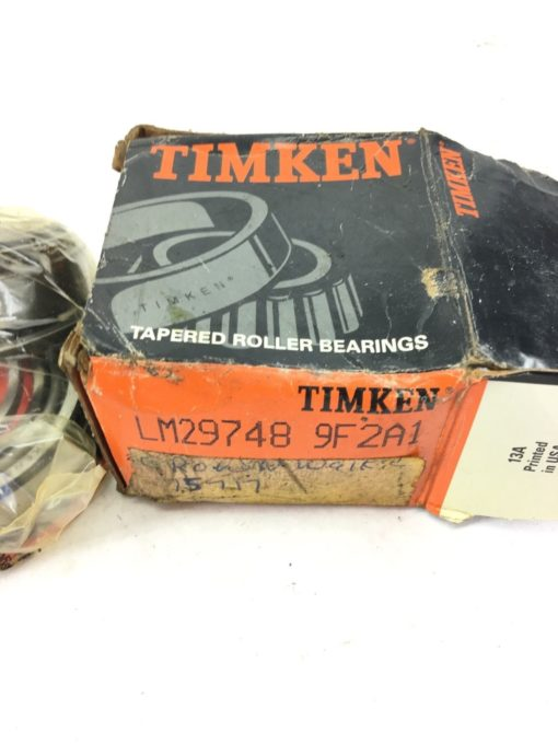 NEWÂ Timken LM29748-902A1Â Tapered Roller Bearing Full Assembly, Cone & Cup, B326 2
