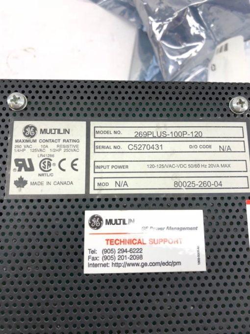 REFURBISHED GE MULTILIN 269 PLUS MOTOR MANAGEMENT RELAY 269PLUS-100P-120 (B340) 2
