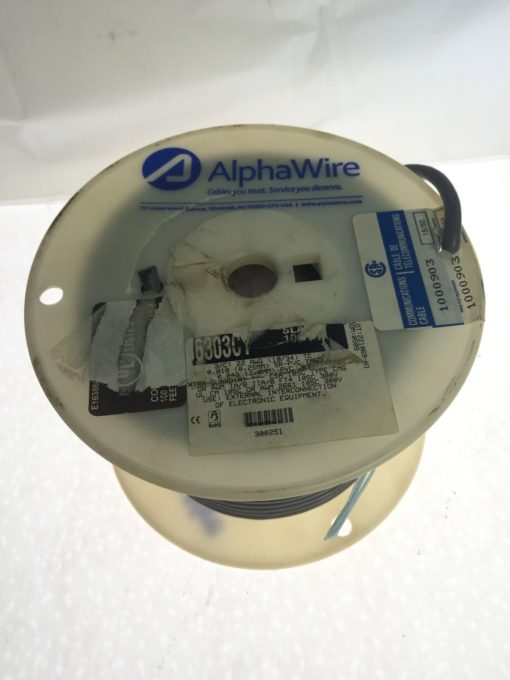 ALPHA WIRE 86303CY Multi-Conductor Cables 22AWG 3C SHIELD 100ft SPOOL NEW (B72) 3
