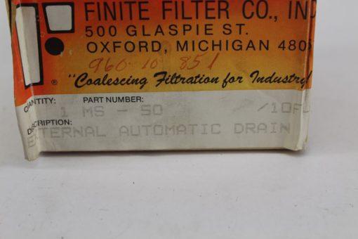 Finite Filer MS-50 External Automatic drain *NEW* (B281) 2