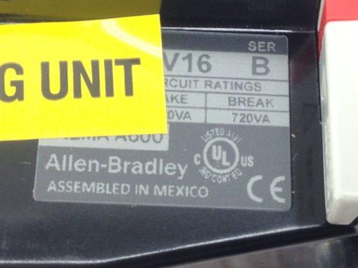 NEW IN BOX ALLEN BRADLEY 592-BOV16 SERIES B OVERLOAD PROTECTOR RELAY (B450 3
