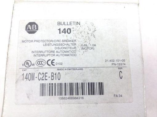 ALLEN BRADLEY 140M-C2E-B10 MANUAL MOTOR STARTER CIRCUIT PROTECTOR, MAGNETIC(A91) 2